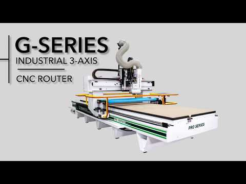G-Series 3-Axis CNC Router by C.R. Onsrud with the Roller Hold-Down Option