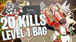 I Dropped 20 Kills w/ a Level 1 Bag... - PS4 Apex Legends w/ Soar Kobi and BacKoFFMyJanKz