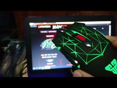 Fantech X7 Blast LED Gaming Mouse Unboxing Review and What it looks like in the Dark