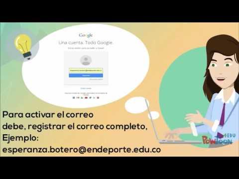 Cómo crear el correo institucional @endeporte.edu.co