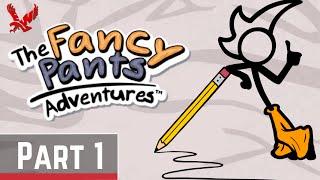 The Fancy Pants Adventure World 1 Remix Gameplay Part 1 - Stickman Adventure