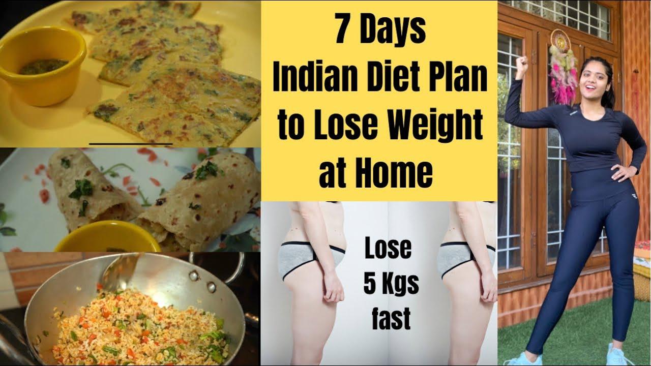 1 Week Indian Weight Loss Diet Plan  | Lose 5 Kgs Fast | Summer Meal Plan | Somya Luhadia