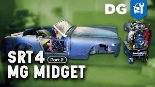 Unibody to Full Frame Conversion: Turbo SRT4 RWD '73 MG Midget