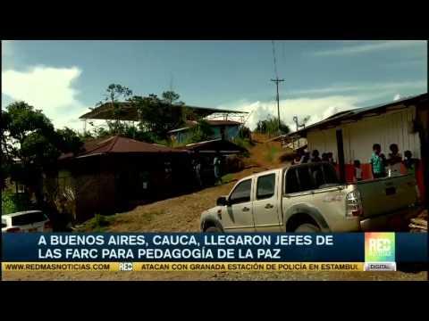 A Buenos Aires, Cauca, llegaron jefes de las Farc, para hacer pedagogía