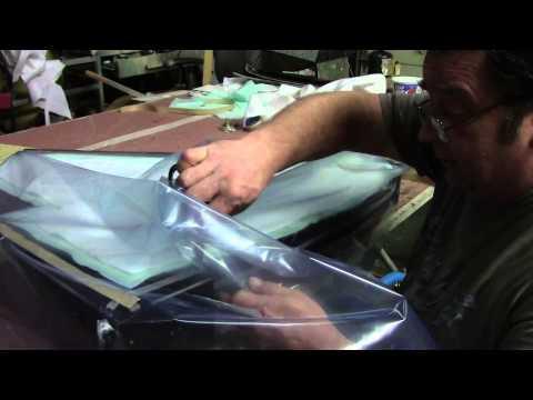 Vacuum bagging composite A-4 wing
