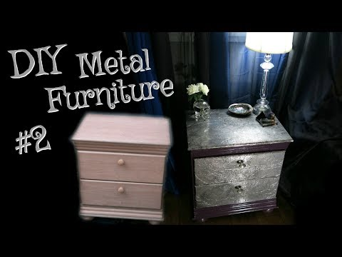 Metal Furniture Faux Finishing! | Skelterina DIY