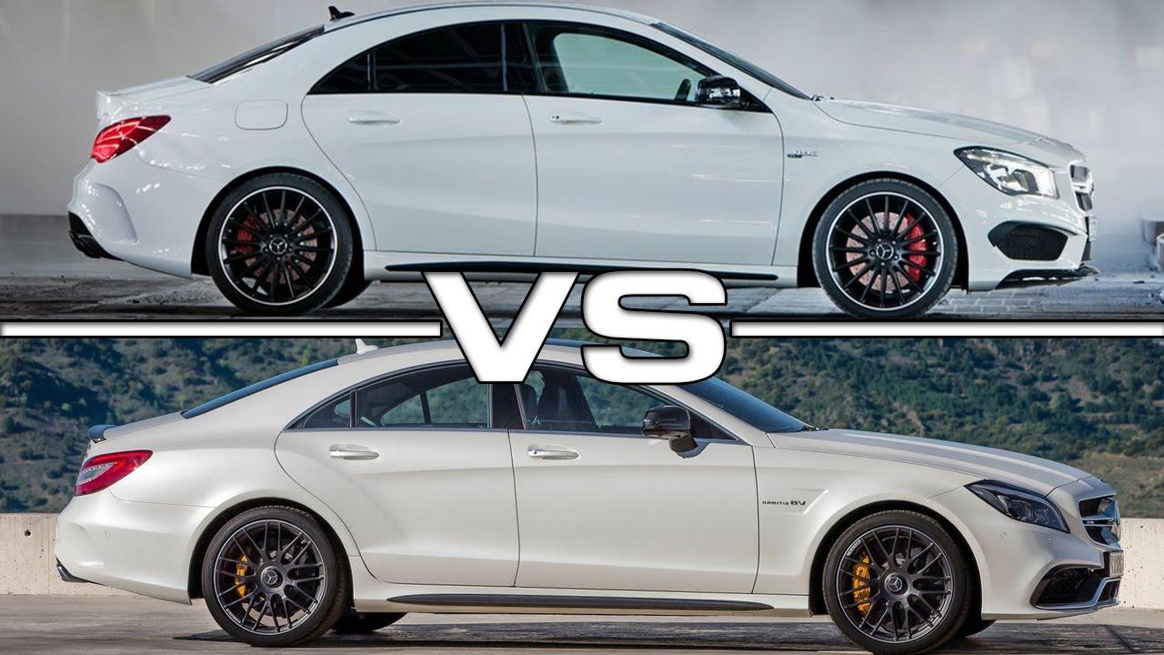 Mercedes CLA45 AMG vs Mercedes CLS63 AMG - YouTube