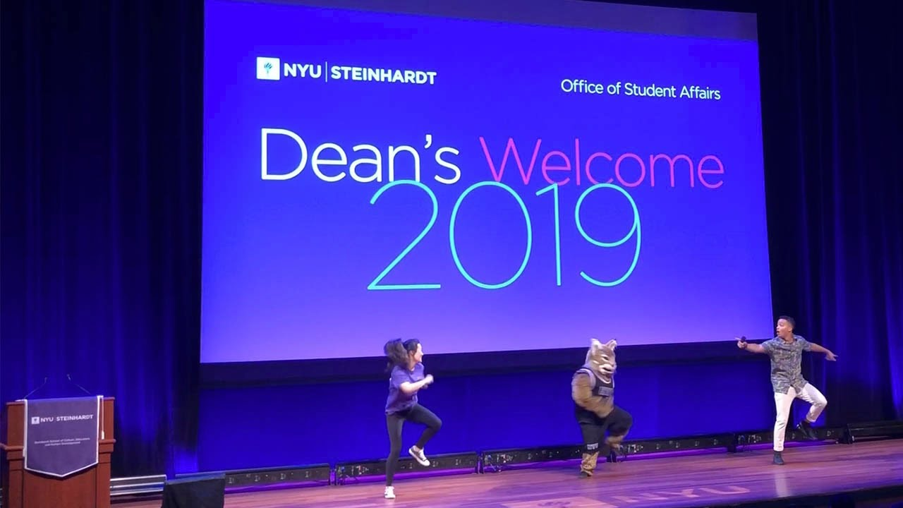 NYU's Bobcat Joins Sam Guyton, Music Business Student, on Stage at Dean's  Welcome