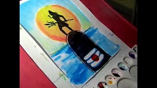 How to Draw Lord Shiva Drawing with Watercolors