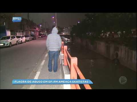 Grupo de skatistas é ameaçado por policiais em Taboão da Serra (SP)