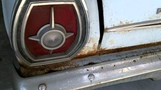 1965 Ford Galaxie pulled from barn