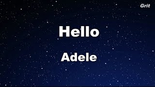 Hello - Adele Karaoke【With Guide Melody】