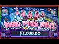 ** NEW STRANGE GAME ** WIN PIGS FLY ** HAVE YOU SEEN THIS BEFORE ? ** SLOT LOVER **