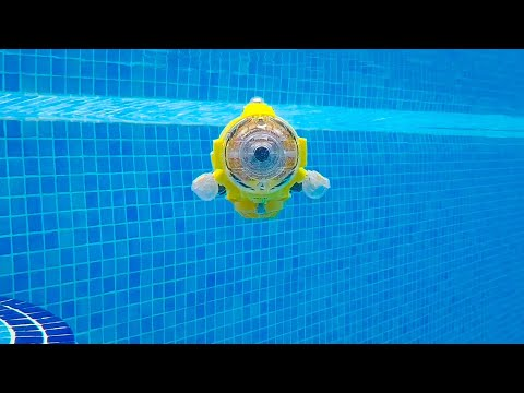 Silverlit remote control submarine Spycam Aqua running video