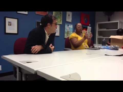 Interviewing jose Dominguez