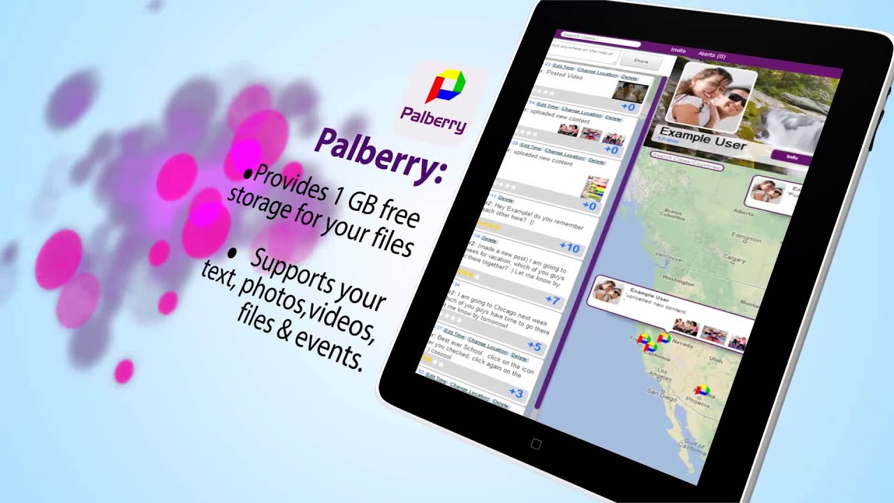 Free online storage and file sharing website: Palberry