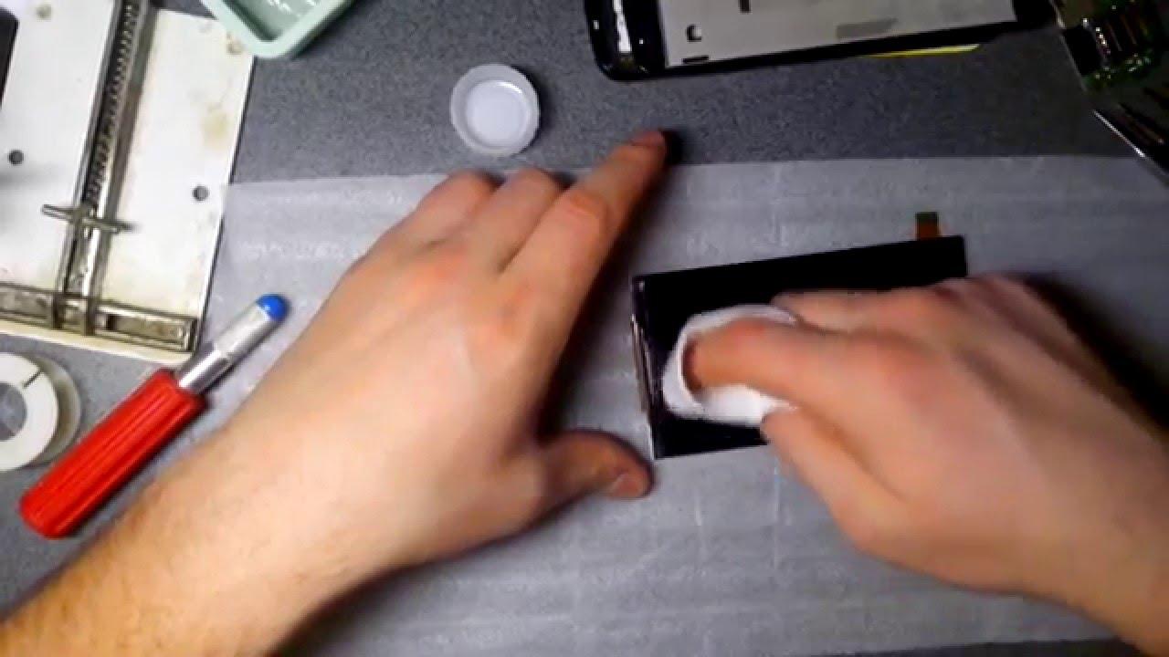 Разборка телефона с разбитым экраном Philips W6610 Ремонт (Часть1 .