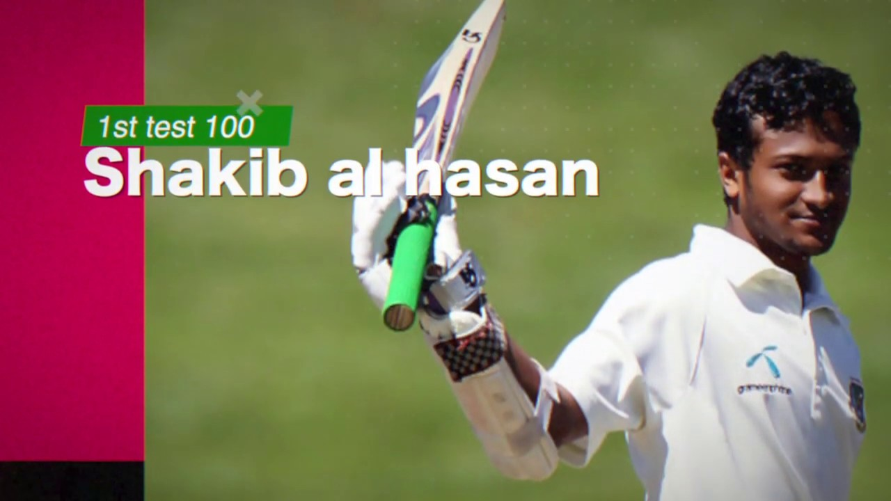 Shakib's first test century