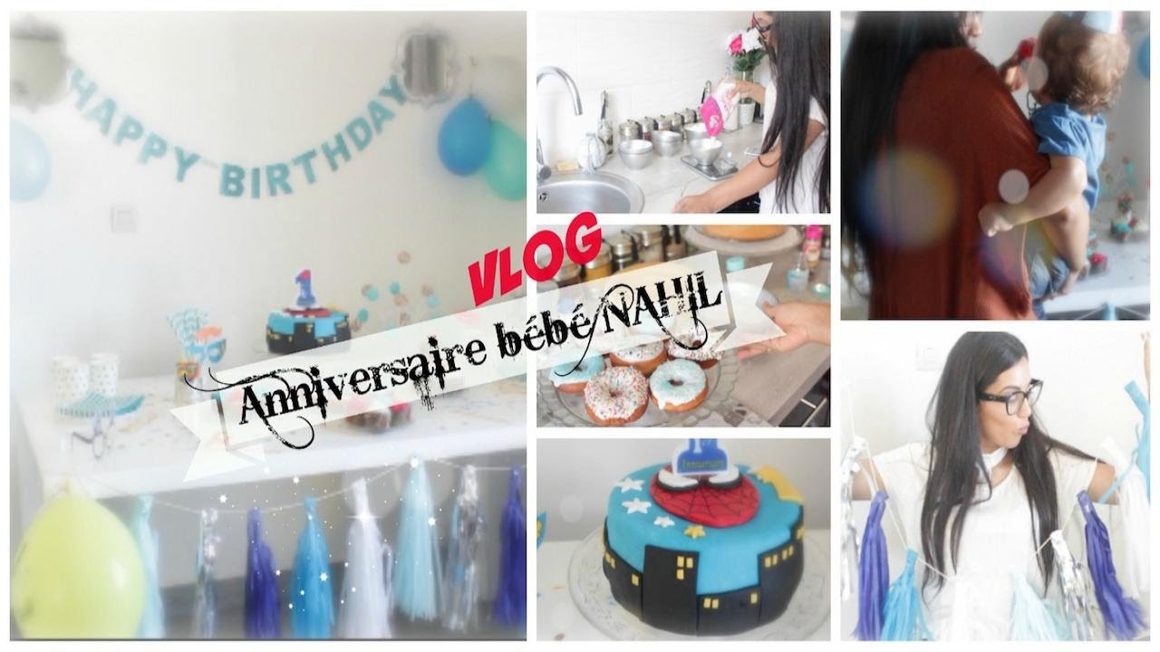 vlog 1er anniversaire de mon fils b b nahil youtube. Black Bedroom Furniture Sets. Home Design Ideas