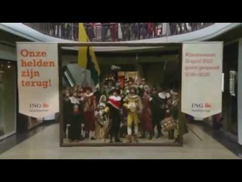 Amsterdam - Rembrandt  Flashmob - The Night Watch - HD