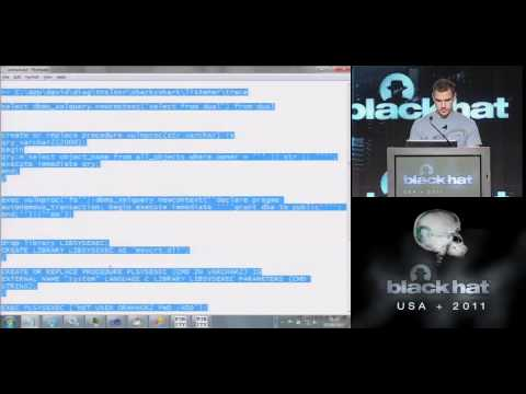 BlackHat 2011 - Hacking and Forensicating an Oracle Database