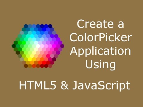 Create A ColorPicker Application Using HTML5 & JavaScript