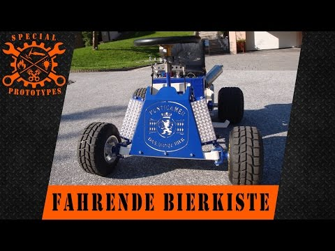 driften mit der fahrenden bierkiste bobbycar mit motor. Black Bedroom Furniture Sets. Home Design Ideas