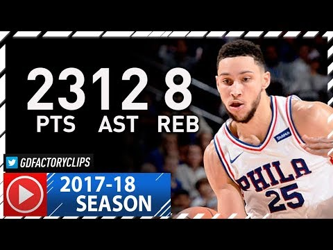 Ben Simmons Full Highlights vs Warriors (2017.11.18) - 23 Pts, 12 Ast, 8 Reb