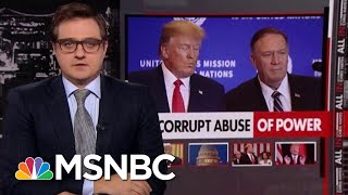 Chris Hayes: Secretary Pompeo Is Up To His Eyeballs In Trump Corruption | All In | MSNBC