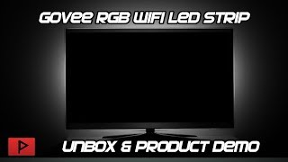 Govee Wifi RGB LED Strip TV Backlight Product Demo
