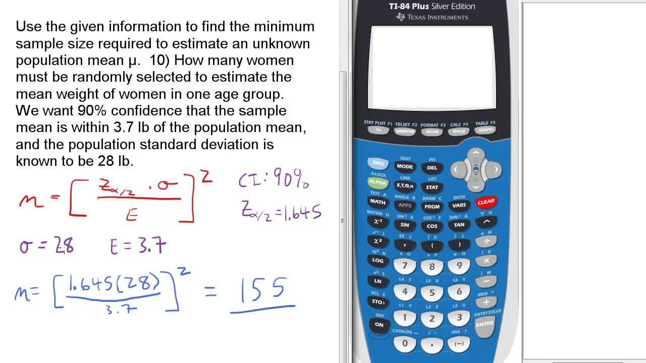 Find Minimum Sample Size Required for Unkown population ...