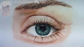 How to Draw a Realistic Eye with Colored Pencils 3d painting-1 By Ria 3d Paintings
