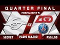 Secret vs PSG.LGD Quarter Final MDL Disneyland Paris Major 2019 Highlights Dota 2