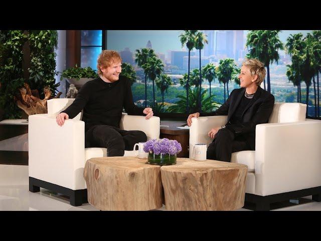 Ellen performes with Ed