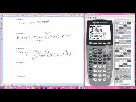 Finding Binomial Probabilities Using The TI-84