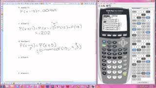 Finding Bino Probabilities Using Ti