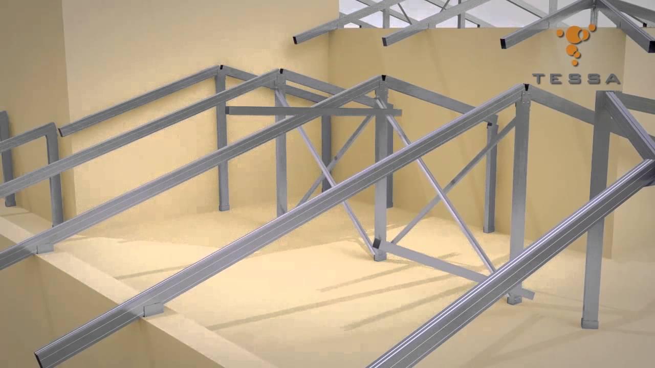 Conhecido Estruturas metálicas para telhas de cerâmica ou concreto - YouTube ZE26
