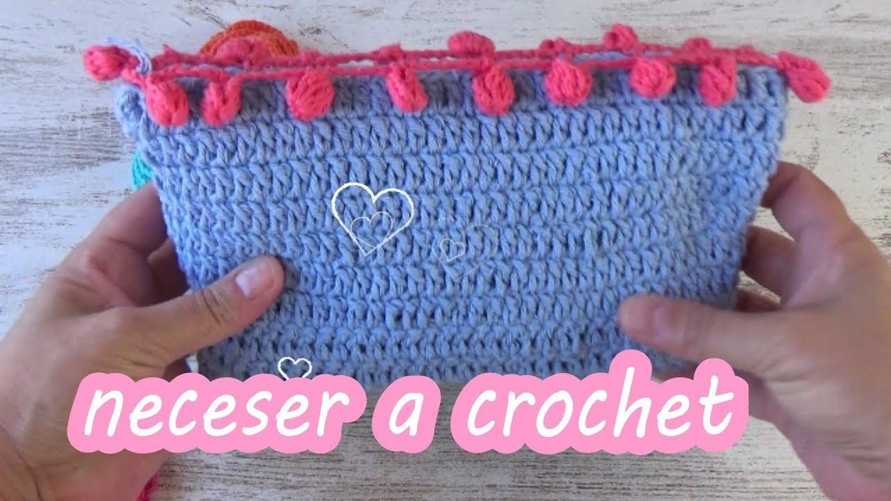 88963bd72 Como hacer un neceser en crochet facil para principiantes ganchillo facil -  YouTube