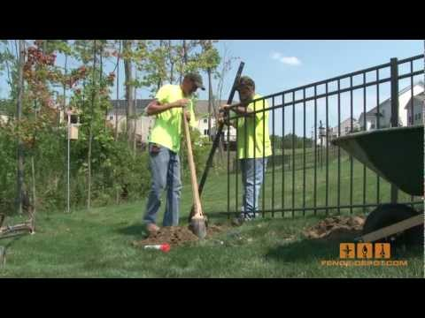 aluminum-fence---how-to-install-it!
