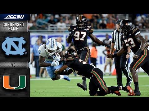 North Carolina Vs. Miami Condensed Game   2018 ACC Football