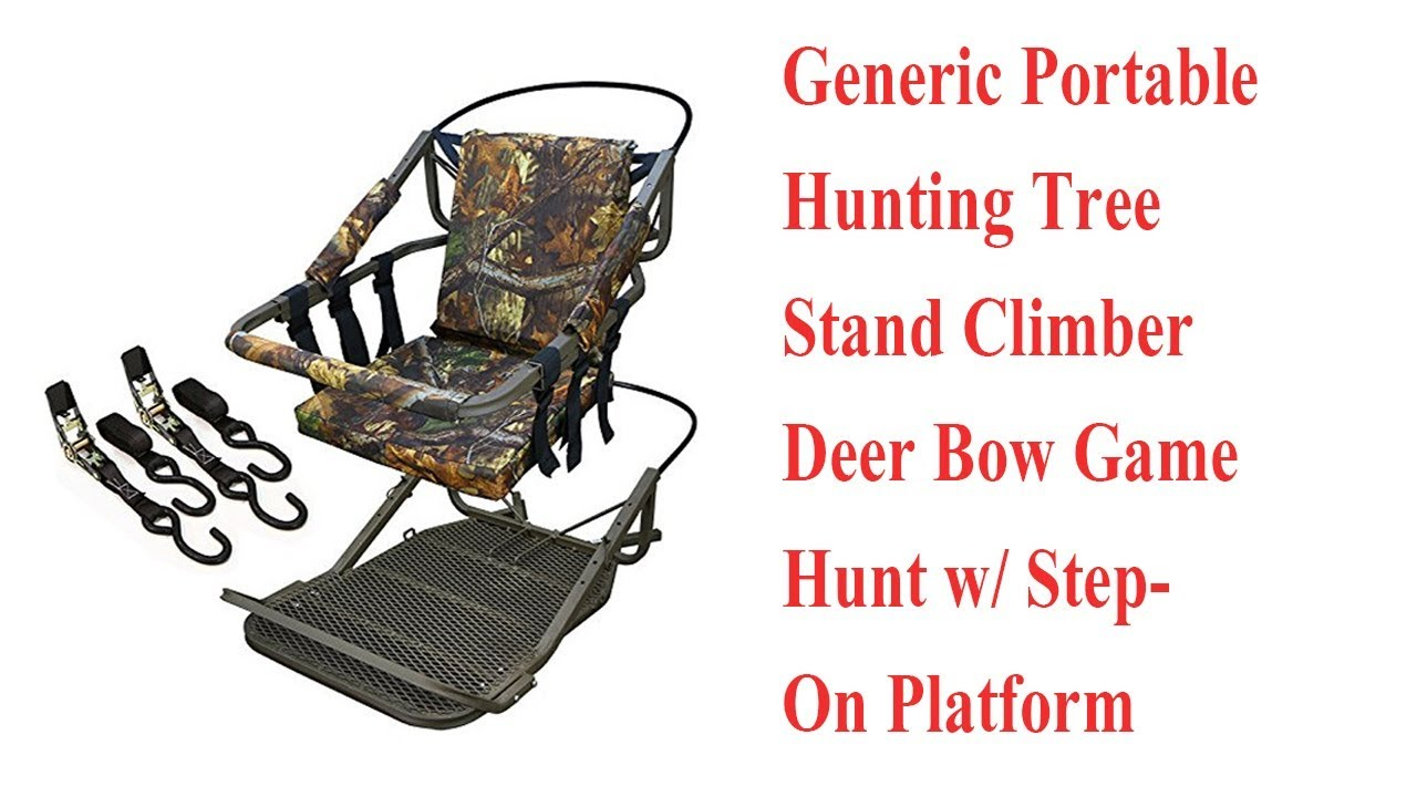 Bow hunting chair - Generic Portable Hunting Tree Stand Climber Deer Bow Game Hunt W Step On Platform