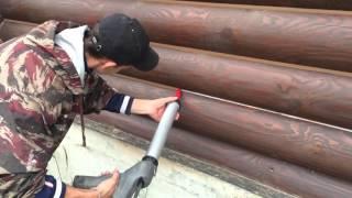 видео теплый шов для деревянного дома
