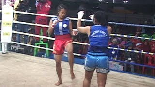 the Myanmar woman fighting sport show