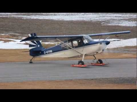 [HD] Bellanca 8GCBC Scout On Skis Landing and Taxiing CSU3