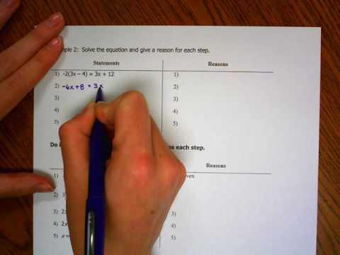 Topic 6b-c Algebraic Proof Examples