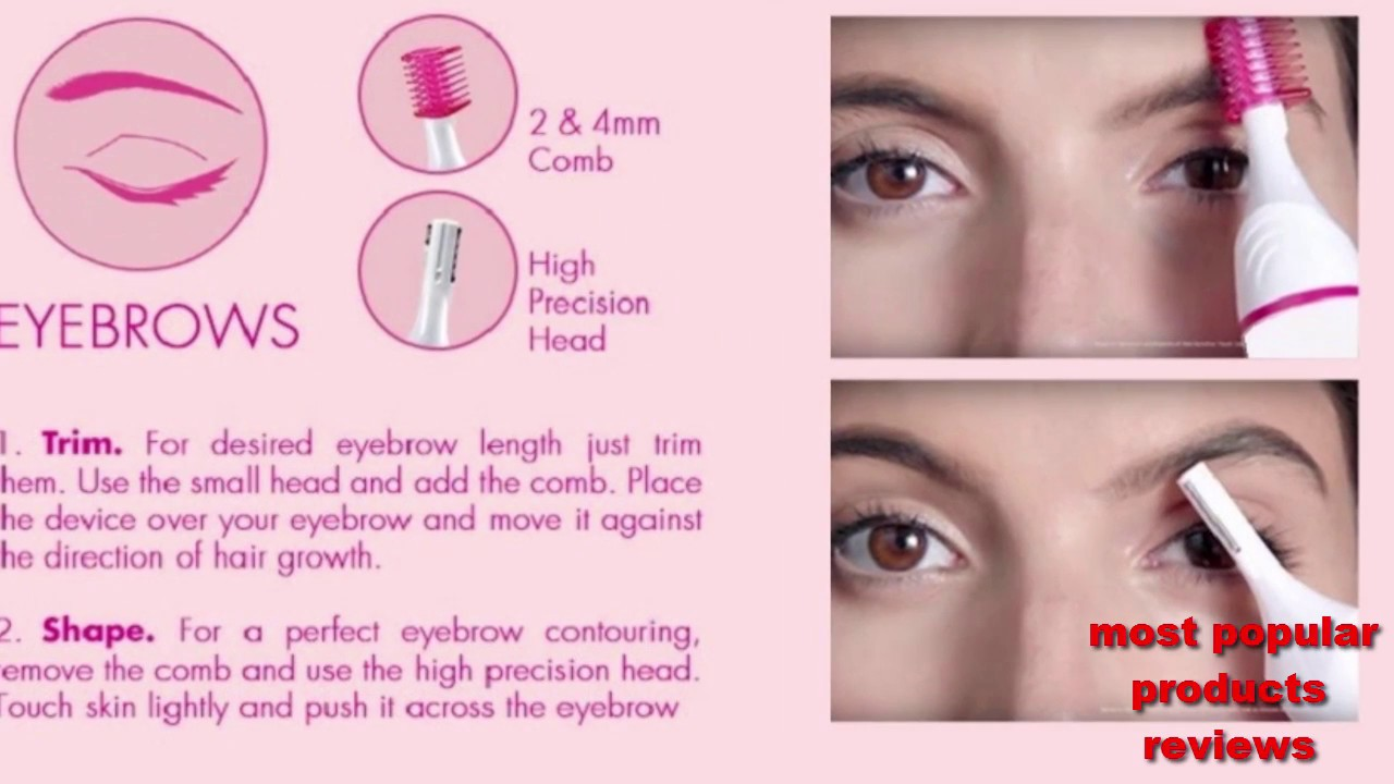 How to remove,eyebrow and bikini trimmer,facial and hair ...