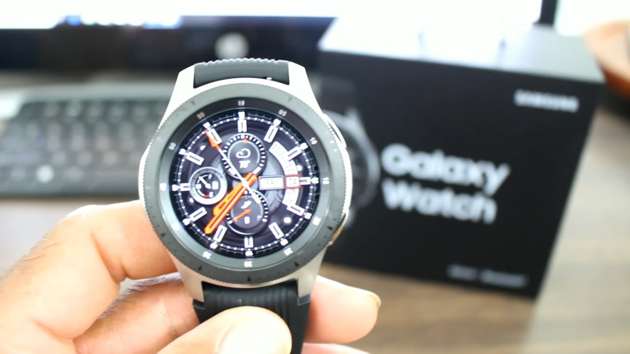 2bafd87f531 Galaxy Watch 46mm Silver Unboxing And First Impressions - YouTube