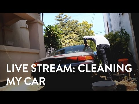 [Live Stream] Cleaning my car and finishing the vinyl wrap