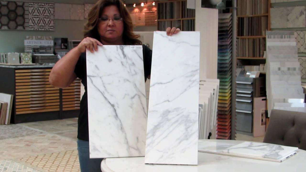 Marble tiles natural stone vs porcelain youtube marble tiles natural stone vs porcelain dailygadgetfo Gallery