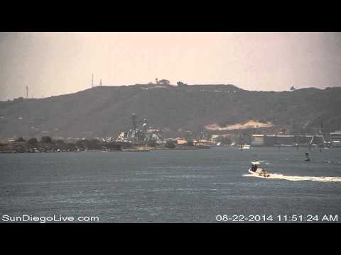 Carl Vinson Carrier Strike Group departing San Diego 8/22/2014 [Tom Ham's East cam] 2 of 3